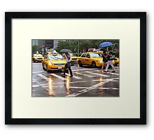 Summer Rain in NYC Framed Print