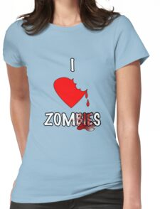 I Heart Zombies Womens Fitted T-Shirt