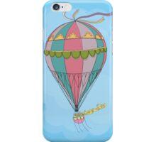 girl in an vintage hot air balloon iPhone Case/Skin