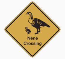 Nene Crossing, Traffic Warning Sign, Hawaii One Piece - Long Sleeve