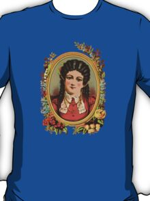 Vintage kitsch lady with black hair T-Shirt