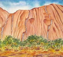 Waterfalls on Ayres Rock by Kathie Nichols
