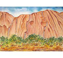 Waterfalls on Ayres Rock Photographic Print