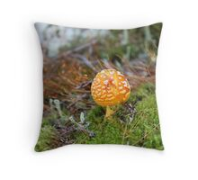 Little sunshine in the woods Throw Pillow