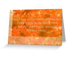 Fall Greeting card Greeting Card