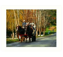 Drivers Ed... Amish Style (best when viewed large) Art Print