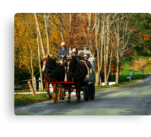 Drivers Ed... Amish Style (best when viewed large) Canvas Print