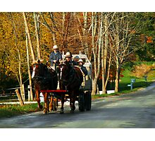Drivers Ed... Amish Style (best when viewed large) Photographic Print