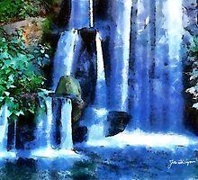 """""""Waterfalls in Blue"""" by John Thompson"""