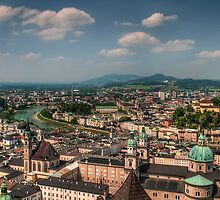 Salzburg from above by Sylvain Dumas
