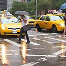 Summer Rain in NYC by Alberto  DeJesus