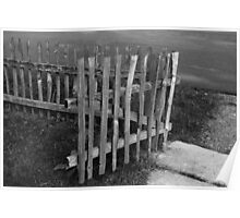 Old Gate in Black and White  Poster