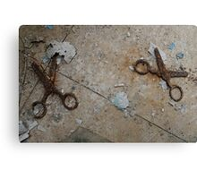 Don't run with scissors! Canvas Print