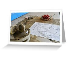 We live on planet earth Greeting Card