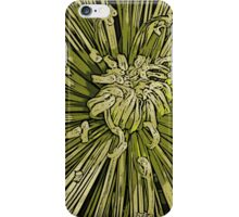 Spider Chrisanthanum Woodcut iPhone Case/Skin