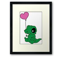 Baby Crocodile Framed Print