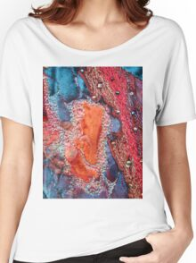 Abstract Machine Embroidery Women's Relaxed Fit T-Shirt