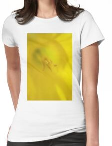 Daffodil Macro Womens Fitted T-Shirt