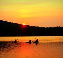 Kayaking on Brettun's Pond, ME by Debbie Robbins
