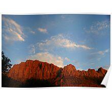 Red Cliffs Zion Poster