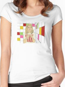Debbie with coloured blocks Women's Fitted Scoop T-Shirt