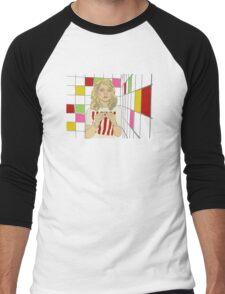 Debbie with coloured blocks Men's Baseball ¾ T-Shirt