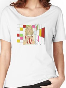 Debbie with coloured blocks Women's Relaxed Fit T-Shirt