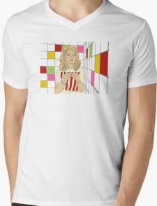 Debbie with coloured blocks Mens V-Neck T-Shirt