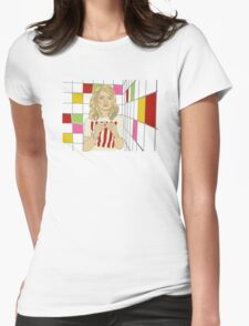 Debbie with coloured blocks Womens Fitted T-Shirt