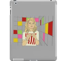 Debbie with coloured blocks iPad Case/Skin
