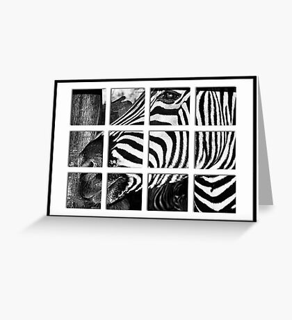 Zebra Puzzle Greeting Card