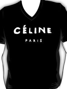CELINE PARIS WHITE T SHIRT RIHANNA TOUR COMME TMBLR GEEK TEE SHIRT TOP T-Shirt
