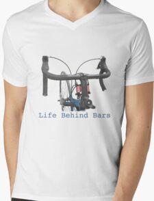 Cycling: a life behind bars Mens V-Neck T-Shirt
