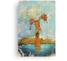 tree of love owls Canvas Print