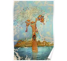 tree of love owls Poster