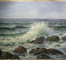 Seascape oil painting by jackie leung