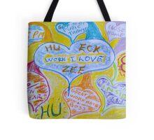 Work Visual Affirmation Tote Bag