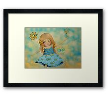 butterfly dress Framed Print