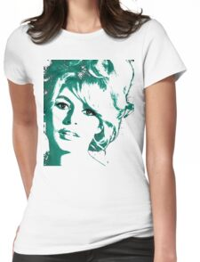 Brigitte Bardot 1960's face Womens Fitted T-Shirt