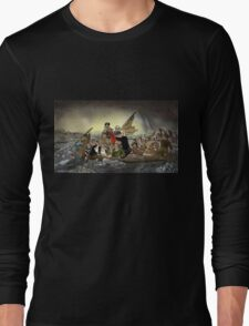 The Whos Crossing the Delaware Long Sleeve T-Shirt