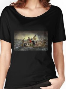 The Whos Crossing the Delaware Women's Relaxed Fit T-Shirt