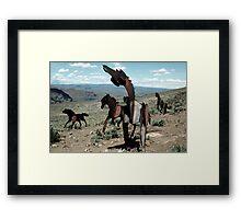Iron Horses - Washington State Framed Print