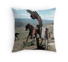 Iron Horses - Washington State Throw Pillow