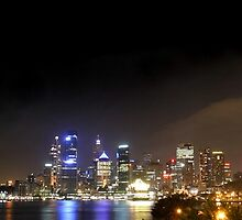 Harbour by Night - Sydney Harbour by Nick Rocco