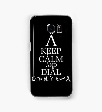 Stargate SG1 - Keep Calm and Dial The Gate Samsung Galaxy Case/Skin