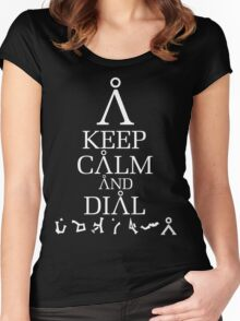 Stargate SG1 - Keep Calm and Dial The Gate Women's Fitted Scoop T-Shirt