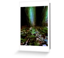 green pond....standing stones Greeting Card