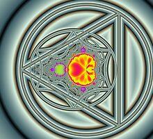 Mandelbrot Circle Triangle by Mark Eggleston