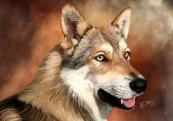 SaarloosWolfdog by ellenspaintings