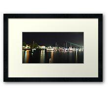 Tweed Harbour Lights Framed Print